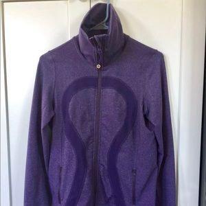 Heathered purple Lulu Lemon zip up jacket
